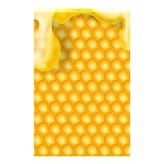 Abstract Honeycomb Background With Realistic Transparent Honey Drop Shower Curtain 48  X 72  (small)