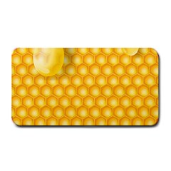 Abstract Honeycomb Background With Realistic Transparent Honey Drop Medium Bar Mats by Vaneshart