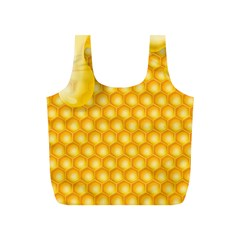 Abstract Honeycomb Background With Realistic Transparent Honey Drop Full Print Recycle Bag (s)