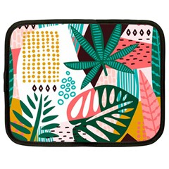 Abstract Seamless Pattern With Tropical Leaves Netbook Case (large)