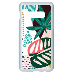 Abstract Seamless Pattern With Tropical Leaves Samsung Galaxy S10e Seamless Case (white) by Vaneshart
