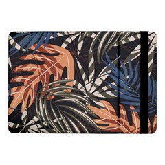 Trend Seamless Pattern With Colorful Tropical Leaves Plants Brown Background Samsung Galaxy Tab Pro 10 1  Flip Case by Vaneshart