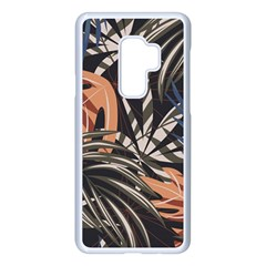 Trend Seamless Pattern With Colorful Tropical Leaves Plants Brown Background Samsung Galaxy S9 Plus Seamless Case(white) by Vaneshart