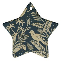 Birds Nature Design Star Ornament (two Sides)
