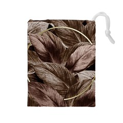 Foliage Circle Card Drawstring Pouch (large)