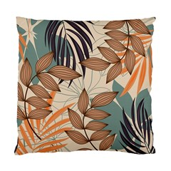Trend Abstract Seamless Pattern With Colorful Tropical Leaves Plants Beige Standard Cushion Case (one Side)