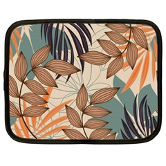 Trend Abstract Seamless Pattern With Colorful Tropical Leaves Plants Beige Netbook Case (xxl) by Vaneshart