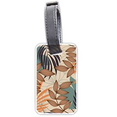 Trend Abstract Seamless Pattern With Colorful Tropical Leaves Plants Beige Luggage Tag (two Sides)