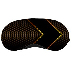 Black Arrow Gold Line Hexagon Mesh Pattern Sleeping Mask