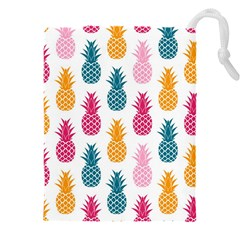 Tropic Fruit Pineapple Seamless Pattern Design Vector Illustration Drawstring Pouch (5xl)