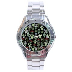 Cute Africa Seamless Pattern Stainless Steel Analogue Watch