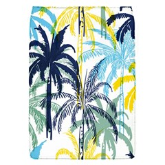Colorful Summer Palm Trees White Forest Background Removable Flap Cover (s)