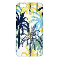 Colorful Summer Palm Trees White Forest Background Iphone 6 Plus/6s Plus Tpu Case