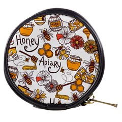 Honey Seamless Pattern Mini Makeup Bag by Vaneshart
