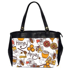 Honey Seamless Pattern Oversize Office Handbag (2 Sides)