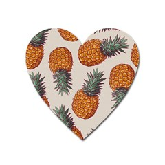 Seamless Pattern With Vector Illustrations Pineapples Heart Magnet by Vaneshart