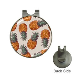 Seamless Pattern With Vector Illustrations Pineapples Hat Clips With Golf Markers
