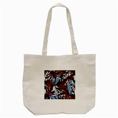 Trending Abstract Seamless Pattern With Colorful Tropical Leaves Plants Black Tote Bag (cream)