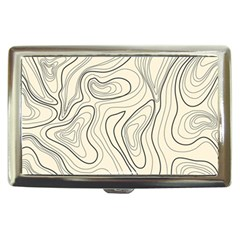 Topographic Lines Background Salmon Colour Shades Cigarette Money Case