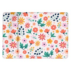 Flat Colorful Flowers Leaves Background Samsung Galaxy Tab 10 1  P7500 Flip Case by Vaneshart