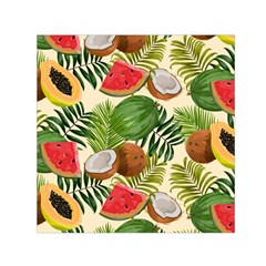 Tropical Pattern Background Small Satin Scarf (square)