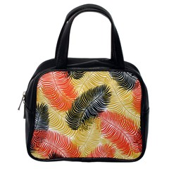 Tropical Seamless Pattern With Exotic Palm Leaves Classic Handbag (one Side)