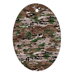 Fabric Camo Protective Ornament (oval)