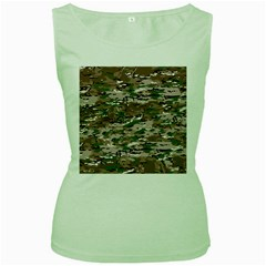 Fabric Camo Protective Women s Green Tank Top