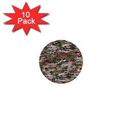 Fabric Camo Protective 1  Mini Buttons (10 Pack)
