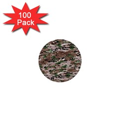 Fabric Camo Protective 1  Mini Buttons (100 Pack)