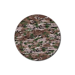 Fabric Camo Protective Rubber Round Coaster (4 Pack)