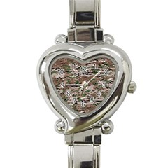 Fabric Camo Protective Heart Italian Charm Watch