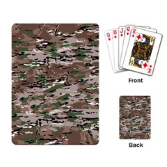 Fabric Camo Protective Playing Cards Single Design (rectangle)