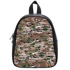 Fabric Camo Protective School Bag (small)