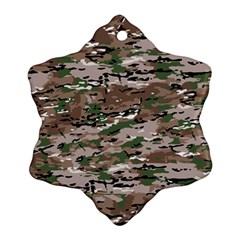 Fabric Camo Protective Snowflake Ornament (two Sides)