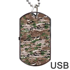 Fabric Camo Protective Dog Tag Usb Flash (one Side)