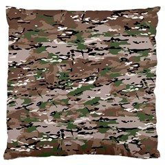 Fabric Camo Protective Standard Flano Cushion Case (two Sides)