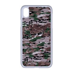 Fabric Camo Protective Iphone Xr Seamless Case (white)