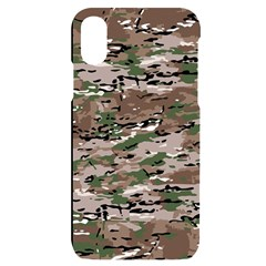 Fabric Camo Protective Iphone X/xs Black Uv Print Case