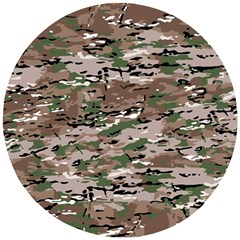 Fabric Camo Protective Wooden Puzzle Round by HermanTelo
