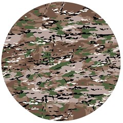 Fabric Camo Protective Wooden Bottle Opener (round)
