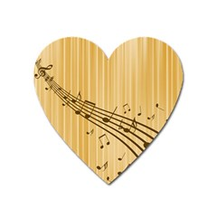 Background Music Nuts Sheet Heart Magnet by Mariart