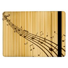 Background Music Nuts Sheet Samsung Galaxy Tab Pro 12 2  Flip Case