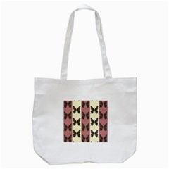 Butterflies Pink Old Old Texture Tote Bag (white) by AnjaniArt
