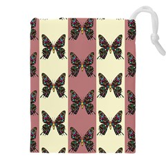 Butterflies Pink Old Old Texture Drawstring Pouch (4xl)