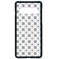 Pattern Black And White Flower Samsung Galaxy S10 Seamless Case(black)