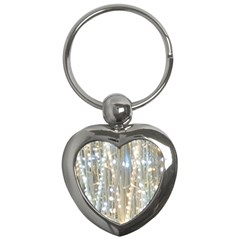 String Of Lights Christmas Festive Party Key Chain (heart) by yoursparklingshop