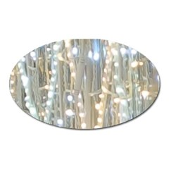 String Of Lights Christmas Festive Party Oval Magnet by yoursparklingshop