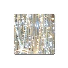 String Of Lights Christmas Festive Party Square Magnet by yoursparklingshop