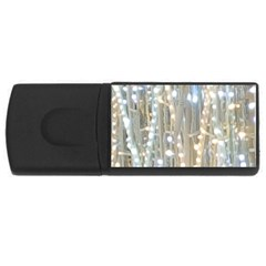 String Of Lights Christmas Festive Party Rectangular Usb Flash Drive by yoursparklingshop